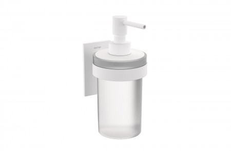 Dispensador para pared de baño Stick 2766503 en acabado blanco mate y vidrio